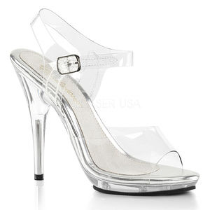 Platform Transparent Clear High Heels Shoes